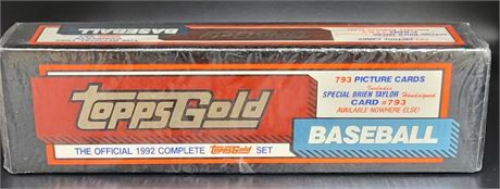 1992 TOPPS BASEBALL GOLD FACTORY SEALED SET VERY RARE!
