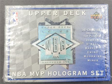 1993 Factory Sealed Hologram Set from Upper Deck Michael Jordan Shaquille O'Neal