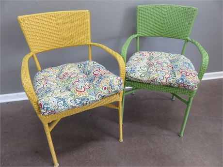 Colorful Metal Patio Chairs
