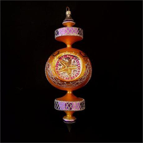 Mid-Century Glass Christmas Ornament