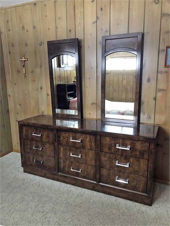 Mirrored Double Dresser