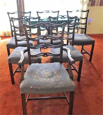 Vintage Chippendale Mahogany Dining Chairs