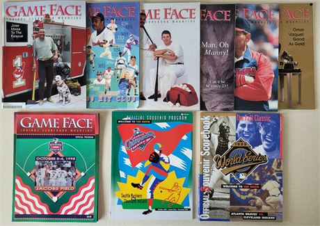 Cleveland Indians 1995 Game Face Souvenirs, World Series & ALCS Programs