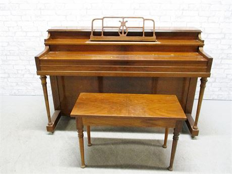 HALLET DAVIS UPRIGHT PIANO