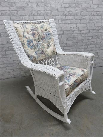 Antique Large Wicker Rocking Chair