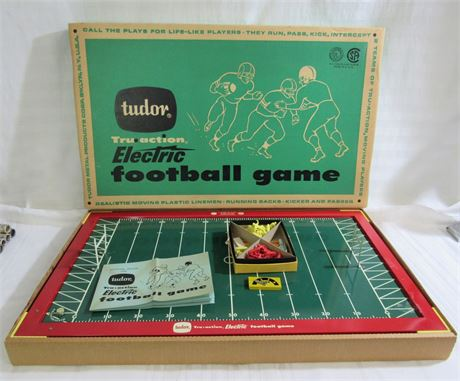 Vintage 1950's/60's Tudor Tru-Action Electric Football Game with Box
