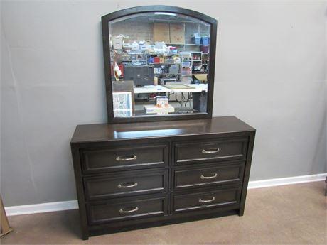 Benchcraft Dresser with Beveled Glass Mirror