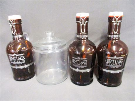 LOT OF 3 GREAT LAKES BREWING 2L BOTTLES