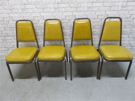 4 SHELBY WILLIAMS Metal Banquet Chairs