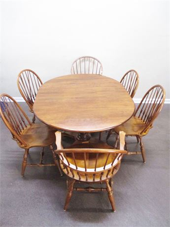 BEAUTIFUL NICHOLS & STONE DINING SET