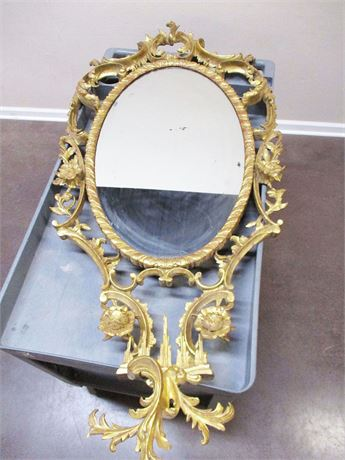 VERY SPECIAL 18TH CENTURY STYLE CHINESE CHIPPENDALE WALL MIRROR