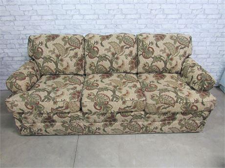 Wesley Hall 3-Cushion Floral Sofa