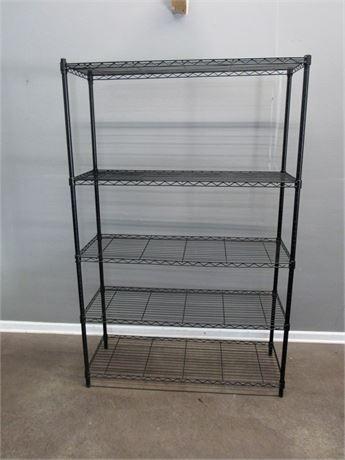 Shelf Tech 5-Tier Adjustable Black Wire/Metal Shelving