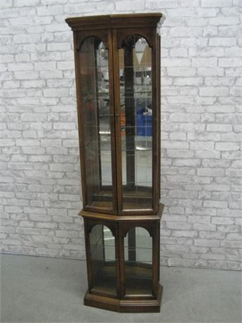 VERY NICE SMALLER SIZED CURIO CABINET