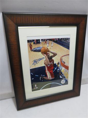 LEBRON JAMES Hand Signed Framed Photo
