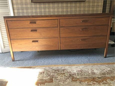 Mid Century Walnut Double Dresser