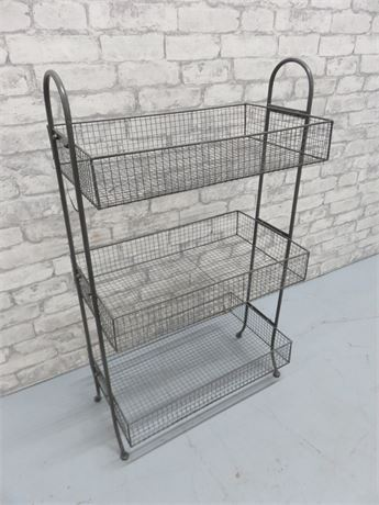 3-Tier Wire Mesh Storage Stand