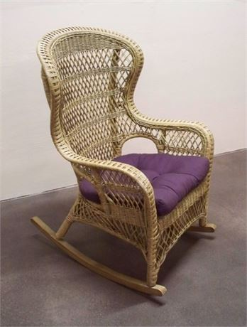 LARGE WICKER ROCKING CHAIR