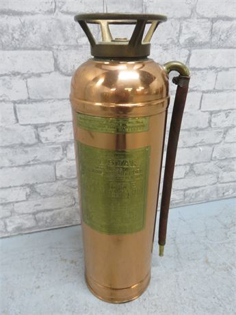 Vintage 1930s RED STAR Copper/Brass Fire Extinguisher