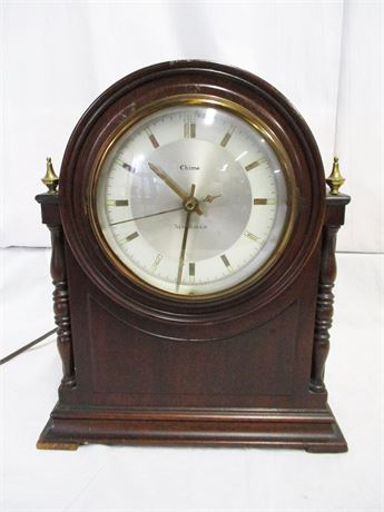 VINTAGE NEW HAVEN DURHAM ELECTRIC CHIME CLOCK
