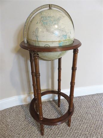 Vintage CRAM'S Imperial World Globe with Floor Stand