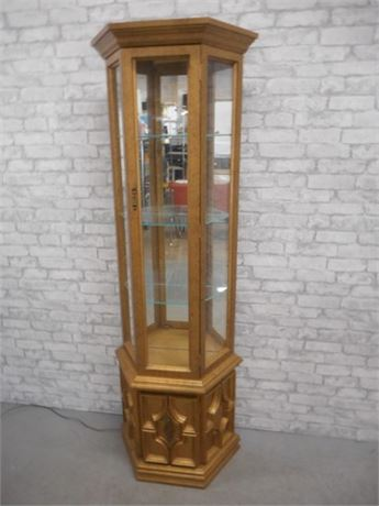 GOLD PAINTED CURIO CABINET