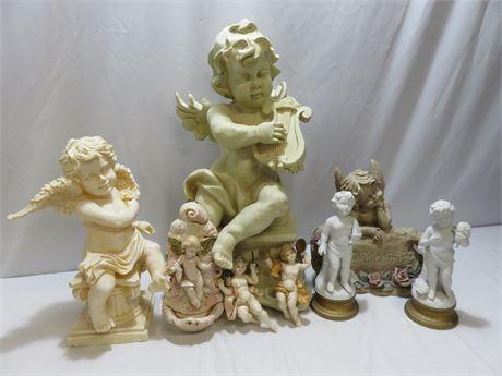 8-Piece Cherub Angel Decor Lot