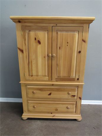 Broyhill Knotty Pine Style Bedroom Armoire