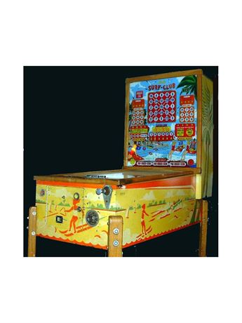 "VINTAGE 1954 BALLY ""SURF-CLUB"" PINBALL BINGO MACHINE"