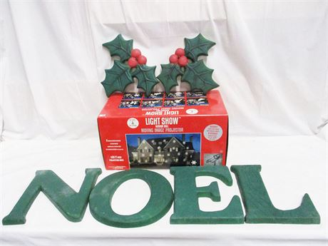 LOT OF OUTDOOR HOLIDAY DECOR