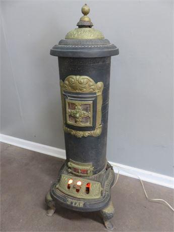 Antique RATHBONE, BARD & CO. STAR Cast Iron Parlor Stove