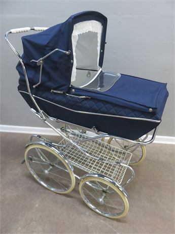 Vintage Mid-Century 1969 Italian Pram Baby Carriage