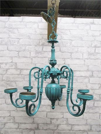 PAINTED CANDLE CHANDELIER