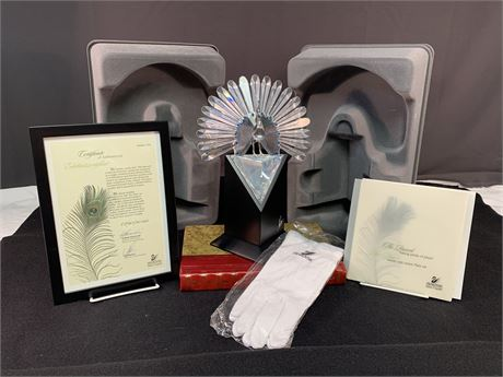 Swarovski Silver Crystal Peacock