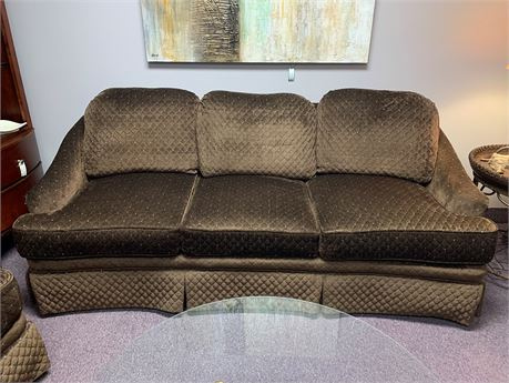 Signatures by Chez-Del Chocolate Brown Sofa  with Blue Enhancement