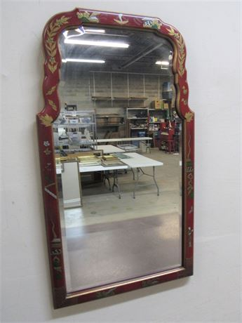 ORIENTAL/ASIAN STYLE MIRROR WITH BEVELED GLASS