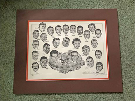 Hand Signed Dick Dugan Limited Edition Cleveland Stadium Print