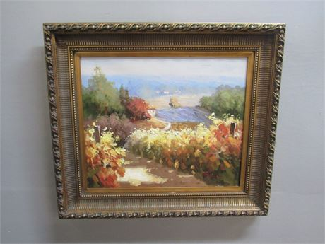 OIL ON CANVAS - FRAMED AND SIGNED
