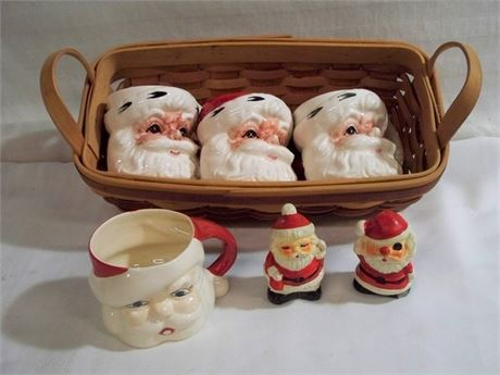 7 PIECE LOT - 6 SANTA'S - INCLUDING LEFTON