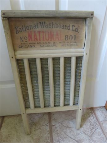Vintage National Washboard No. 801 The Brass King