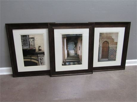 3 Framed Matted Numbered and Signed Photography Prints - Garcia Aaron Luoma