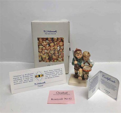"""Special Commemorative Desert Storm """"Volunteers"""" Figurine"""