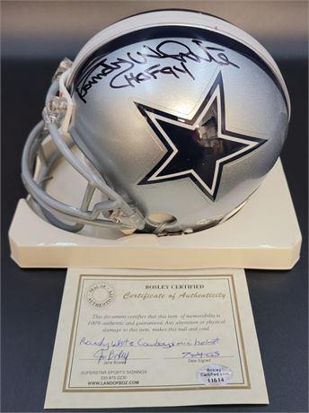 Randy White Dallas Cowboys Hand Signed Mini Helmet with COA
