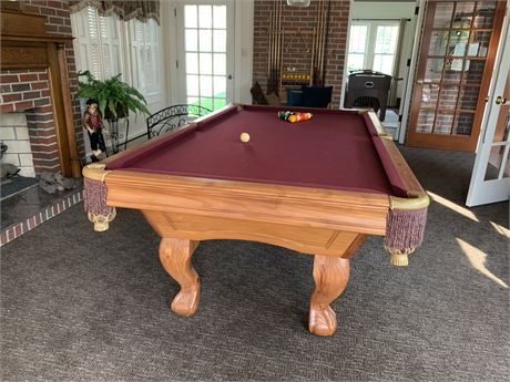PRESIDENTIAL BILLIARDS 8 ft. Slate Pool Table