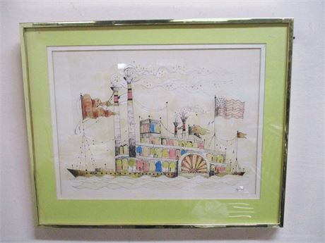 STEAMBOAT PAINTING BY LOCAL ARTIST ROGER COAST