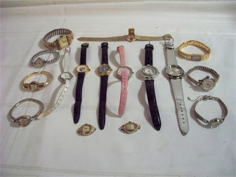 MISC. WATCH LOT - 14 WATCHES