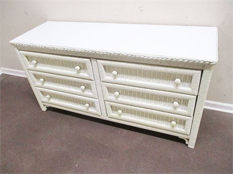 HENRY LINK WICKER 6-DRAWER DRESSER