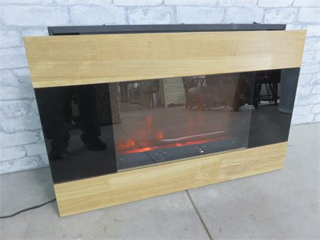 Contemporary Wall Mount Electric Fireplace Heater