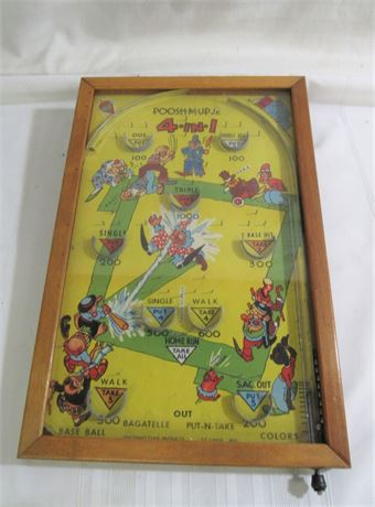 Northwestern Products Co. Poosh-M-Up Jr. 4 in 1 Table Top Baseball Pinball Game