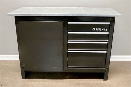 Metal (over wood) Work Bench and Base Tool Cabinet